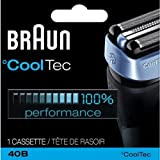Braun CoolTec Replacement Foil & Cutter Cartridge for all Braun CoolTec Mens Shavers, Compatible with CT2CC, CT2S, CT4CC, CT5CC, Features Active Cooling Technology with Advanced 3-Stage Cutting System, and Senso-Blade Technology, Replace Every 18 Months f