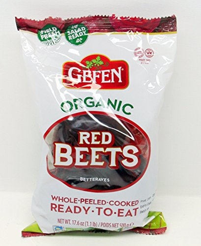Gefen Organic Red Beets Whole Peeled Cooked Ready To Eat - Beets Made Easy!