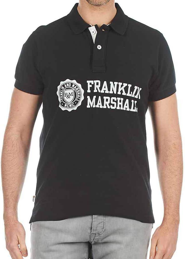 Polo Franklin Marshall Piquet Classic Negro para Hombre, Talla L ...