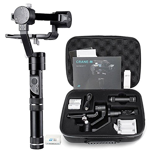 Zhiyun Crane M 3-Axis Stabilizer Gimbal for All Sports Cameras & All Smartphones & Sony black magic series DC & Panasonic Lumix DMC & a few Mirrorless Cameras by Zhiyun