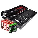 Nebo 6294 Seven-Z 770 lumens LED flashlight with 3 X EdisonBright AA alkaline batteries & 9 Nebo AA batteries