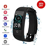QWMoonRu Fitness Tracker with Heart Rate Monitor Blood Pressure Blood Oxygen Monitor, Waterproof Activity Tracker Watch with Pedometer, Sleep Monitor, Smart Watch for Men, Women and Kids
