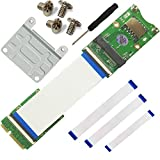 WEONE Replacement Mini PCI-Ex mSATA Flexible Exender cable With SIM card Slot