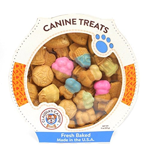 - Claudia's Canine Bakery - K-9's Favorite Things - Gourmet Peanut Butter Dog Treats - 10 oz.