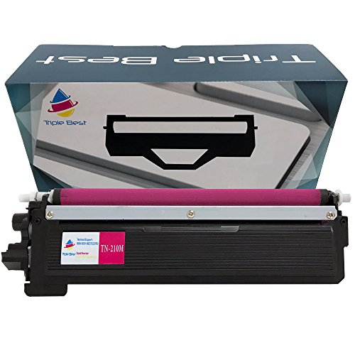 Triple Best Compatible Laser Toner Cartridges for Brother TN210 Black / Cyan / Magenta / Yellow Compatible Toner Cartridge for HL-3040CN HL-3045CN HL-3070CW HL-3075CW MFC-9320CW (Magenta)