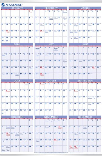 AT-A-GLANCE PM1228 Yearly Wall Calendar, 24 x 36, 2016
