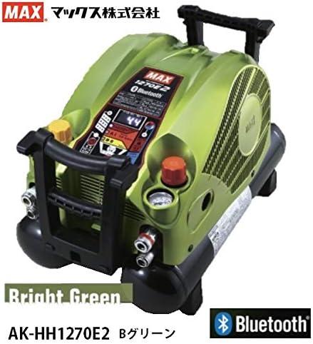 マックス 高圧エアコンプレッサ AK-HH1270E2 限定カラー ブライトグリーン ZT92708 高圧取出口4個 タンク容量11L ブラシレスモータ1200W MAX