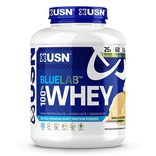 USN Supplements Bluelab 100 Percent Whey, Vanilla, 4.5 Pound