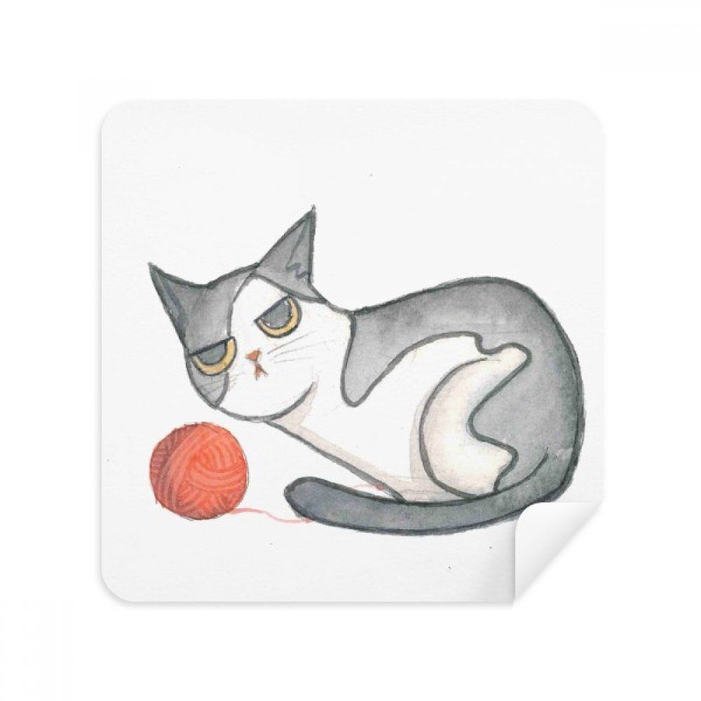 miaoji Painting Watercolorパペット猫メガネクリーニングクロス電話画面クリーナースエードファブリック2pcs   B07C9639H7