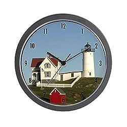 CafePress Nubble Lighthouse Wall Clock - Standard Multi-color