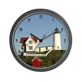 CafePress – Nubble Lighthouse Wall Clock – Unique Decorative 10″ Wall Clock