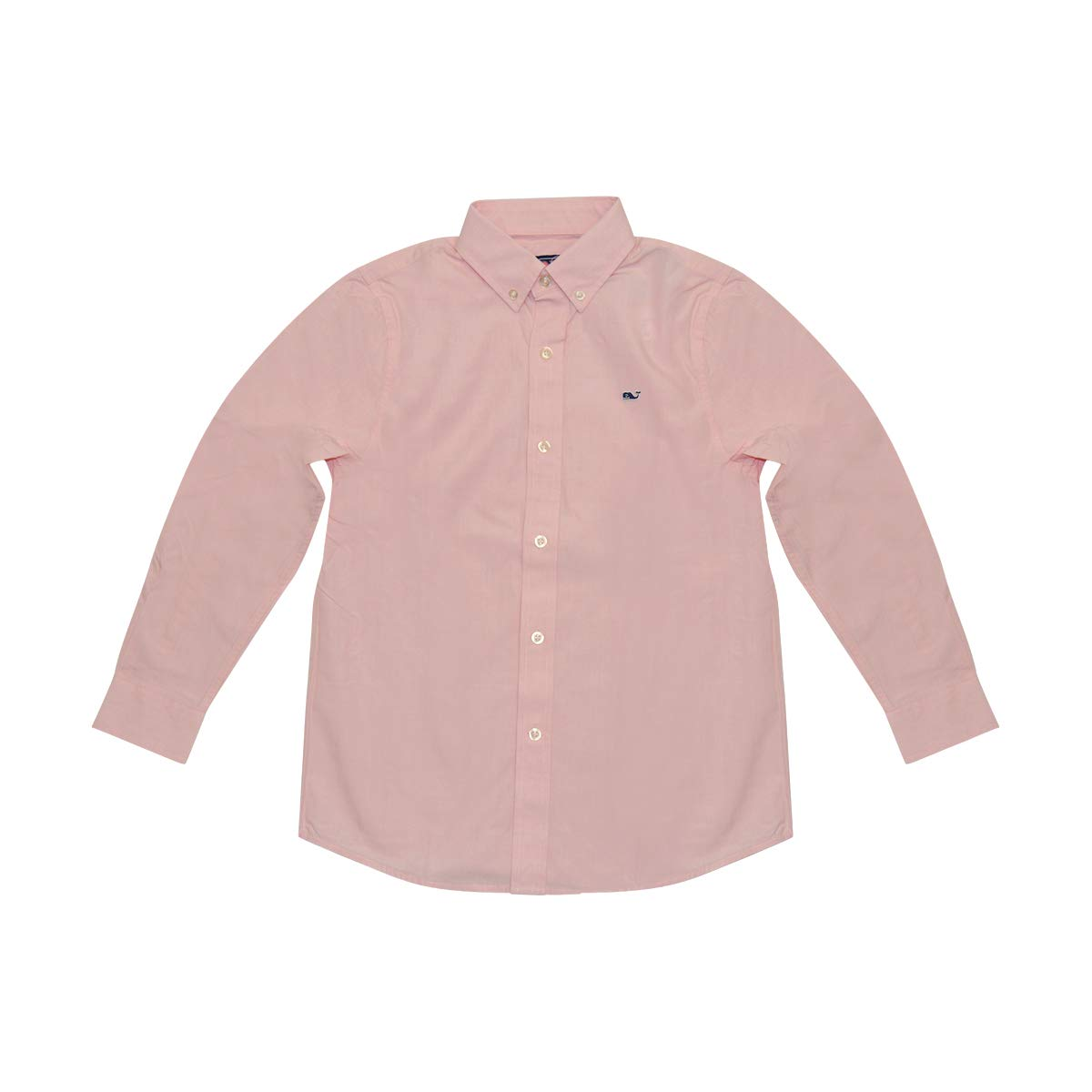 Vineyard Vines Boys Whale Shirt Long Sleeve Button Down Dress Shirt (Cape Coral, L)