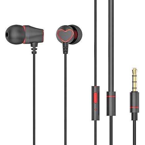 e04a32736d2ed3 ... Headphone w/Mic (Black): Buy Innersetting Metal in Ear Earphones 3.5mm  Wired Headset Earbuds Headphone w/Mic (Black) Online at Low Price in India  ...