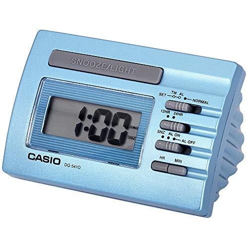 (Casio Blue Digital Desk Alarm Clock With Snooze DQ541D)