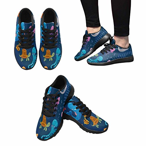InterestPrint Womens Jogging Running Sneaker Lightweight Go Easy Walking Comfort Sports Running Shoes Multi 1 NrlcB2