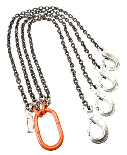 31200 lbs Load Capacity at 60/° Mazzella QOG Mechanical Alloy Chain Sling 1//2 Chain Size Fixed-Leg 5 Length Grade 80