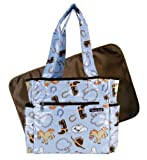 Trend Lab Tulip Tote Diaper Bag, Cowboy Baby, Bags Central
