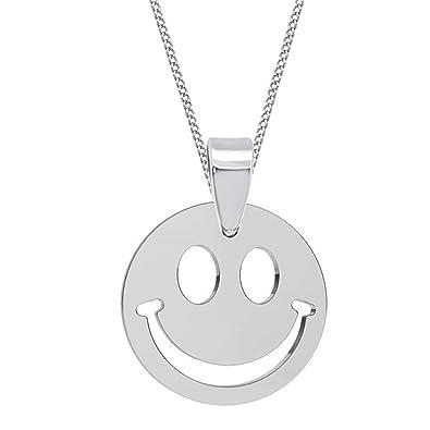 GH1a Smiley ANHÄNGER mit KETTE 925 Echt Silber Mädchen Damen Smilie (Kette  38cm)  Amazon.de  Schmuck d13f9756b5