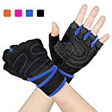 Arteesol Adjustable Gym Gloves, Ultralight Weight Lifting Gloves Full Anti-Slip Palm Protection Exercise Gloves for Workout Workout, Fitness, Cross Training, Men and Women