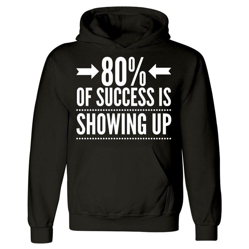 Hoodie 80/% of Success is Showing Up Motivational Fitness Mug Workout Gift Idea