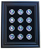 Black Casino Chip Display Frame with 12 Zodiac Poker Chips (Included)