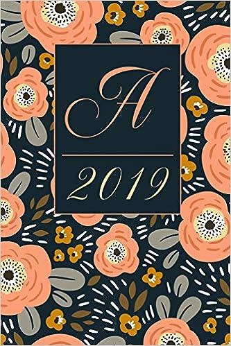 February Monogram Calendar 2019 Amazon.com: A: Letter A 2019 Yearly Planner Calendar, Ditzy
