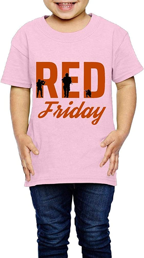 XYMYFC-E RED Friday Remember Everyone Deployed 2-6 Years Old Kids Short Sleeve T Shirt