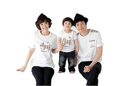 【ドリーム ショップ】親子お揃い服 ペアTシャツ風 夏 親子服 家族