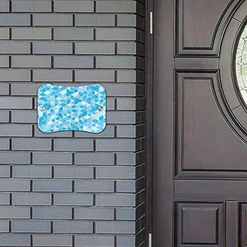 Door Sign Prism Pattern Blue Hot Hanging Wall Art Primitive for Cafe Shop