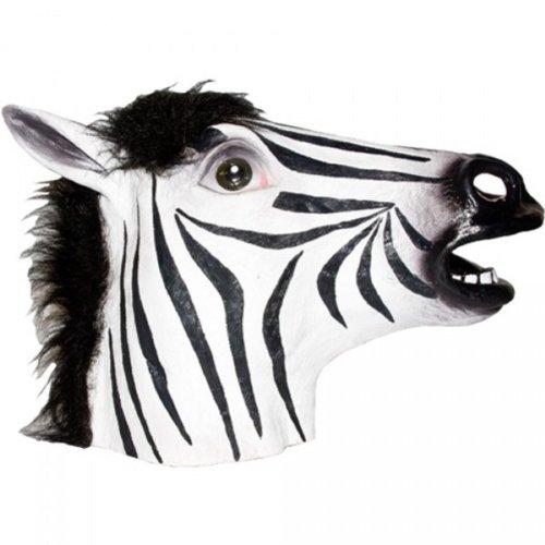 Zebra Latex Mask (Dillon 18-8600Z Mask Animal Zebra)