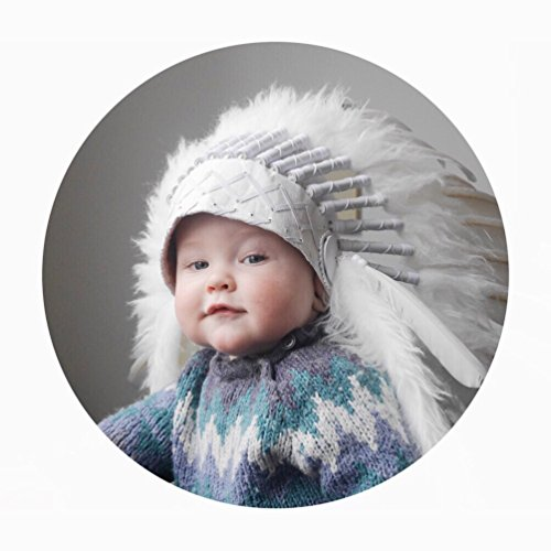 [N02- For 9 to 18 month Toddler / Baby : White Headdress for the little ones !] (Greatest Halloween Costumes Ever)
