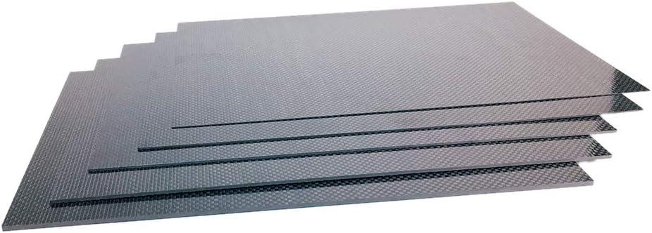 Festnight Panneau de plaque de fibre de carbone 3K feuille de panneau de plaque de fibre de carbone pleine surface brillante darmure serg/é twill