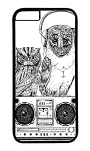 Apple Iphone 6 Case,WENJORS Adorable Silent Night ANALOG zine Hard Case Protective Shell Cell Phone Cover For Apple Iphone 6 (4.7 Inch) - PC Black