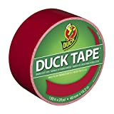 Duck Brand 1265014 Color Duct Tape, Red, 1.88 Inches x 20 Yards, Single Roll