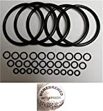 Universal Kegco type O-Ring Five Gasket Sets for Cornelius Home Brew Keg and Homebrewed With Pride keg sticker