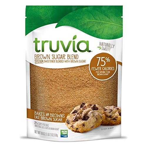 (Truvia Brown Sugar Blend, Mix of Natural Stevia Sweetener and Brown Sugar, 18 oz Bag)