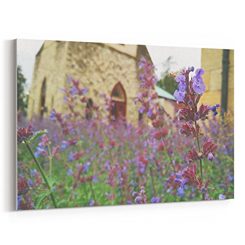 Westlake Art - Lavender Flower - 12x18 Canvas Print Wall Art - Canvas Stretched Gallery Wrap Modern Picture Photography Artwork - Ready to Hang 12x18 Inch (D0D8-3CBD8) ()