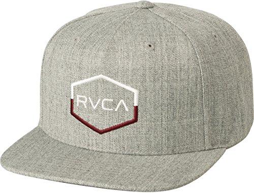 RVCA Big Boys' Commonwealth III Snapback Hat, Heather Grey, One (Big Boy Hats)