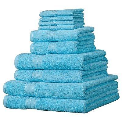Linens Limited Supreme 100% Egyptian Cotton 10 Piece Towel Bale, Aqua