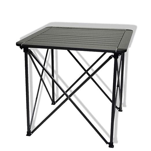 DX Mesa Plegable Mesa de Picnic portátil Mediana de Aluminio para ...