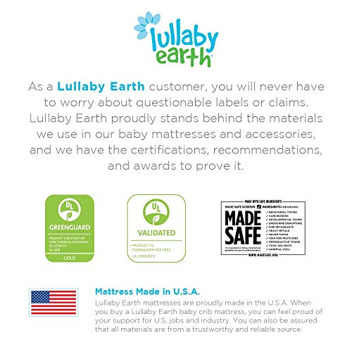 51vLdkYGGXL - Lullaby Earth Breeze 2-Stage Breathable Crib Mattress - Chemical Free, Dual Firmness Natural Mattress With Removable Washable Protector