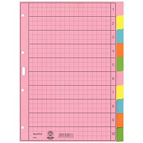 Divisores para archivador Esselte Leitz (A-Z, tamaño A4, 10 hojas, en color