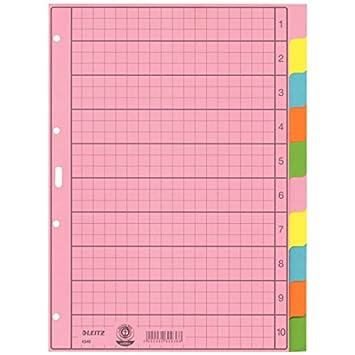 Divisores para archivador Esselte Leitz (A-Z, tamaño A4, 10 hojas, en color): Amazon.es: Oficina y papelería