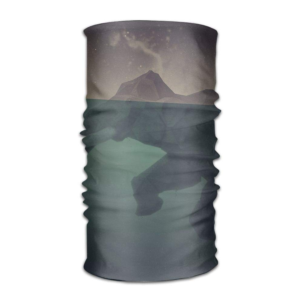 Headwear Cube Pattern Sweatband Elastic Turban Sport Headband Outdoor Head Wrap