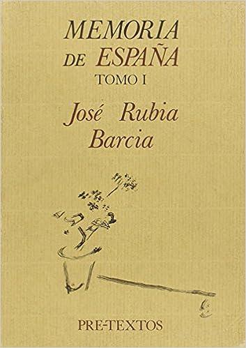 Memoria de España (Tomo I) (Hispánicas): Amazon.es: Rubia Barcia ...