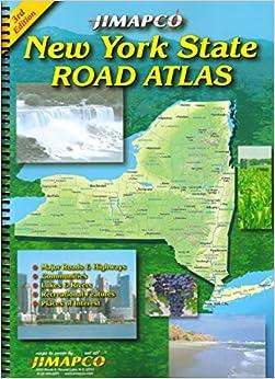 New York State Road Atlas JIMAPCO Inc Amazon - Road map of new york state