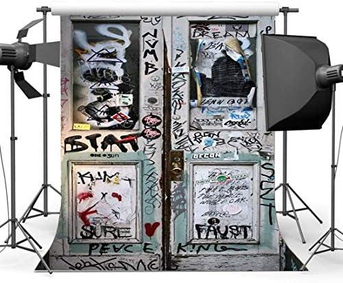 vrupi Old Barn Backdrop Antecedentes Vinilo 3X5FT Madera Granero Antecedentes Puerta Graffiti 80 s Hip Hop American Street Culture Grunge Wallpaper Fondo para 90 s Fiesta Photo Props Estudio: Amazon.es: Electrónica