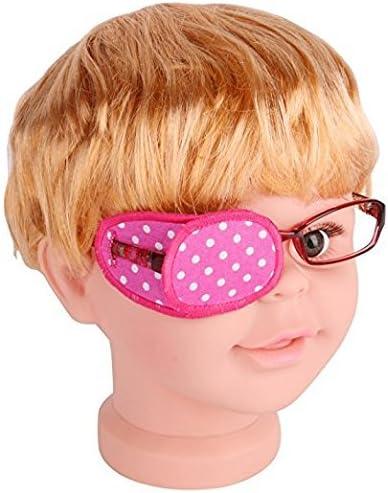Pansement oculaire en coton pur pour lunettes, traite l'amblyopie ou œil  paresseux et le strabisme, pansement oculaire pour enfants, taille  ordinaire, rose à pois blancs: Amazon.fr: HygiÚne et Soins du corps