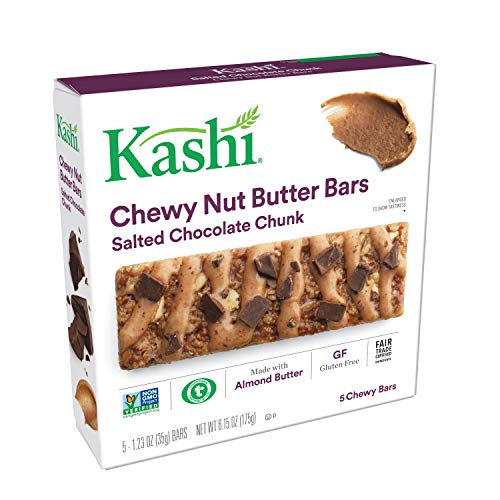 Kashi, Chewy Nut Butter Bars, Salted Chocolate Chunk, Vegan, Gluten Free, Non-GMO Project Verified, 6.15 oz (5 - Kashi Protein Bars