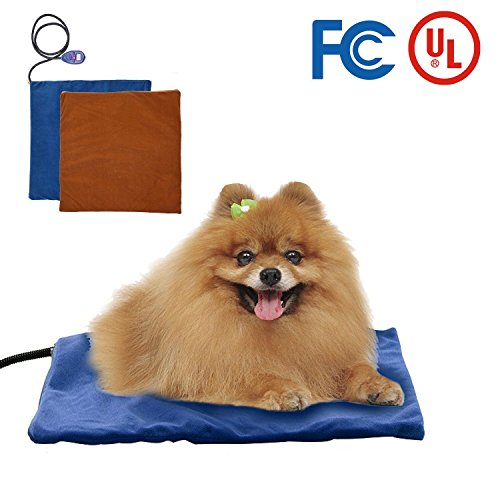 Heating Pads for Pets with Chew Resistant Cord , EOSAGA Waterproof Electric Heating Pad with 2 Soft Removable Covers, for Dogs & Cats by EOSAGA